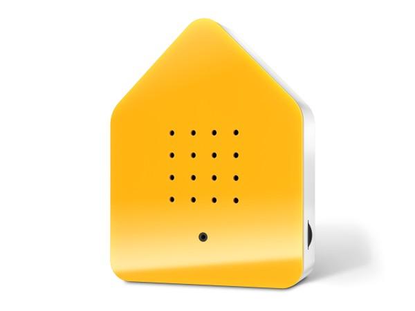 Zwitscherbox_yellow_front_shadow